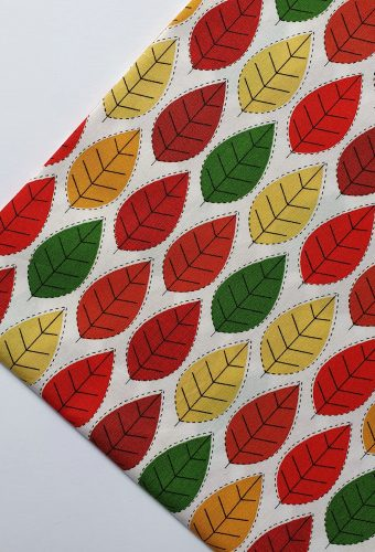 Leaf Print Cotton Fabric