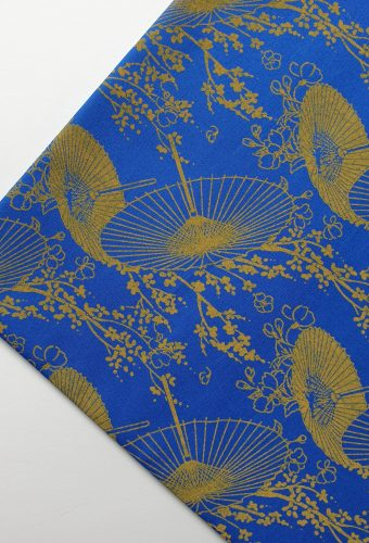 Royal Blue Parasol Print