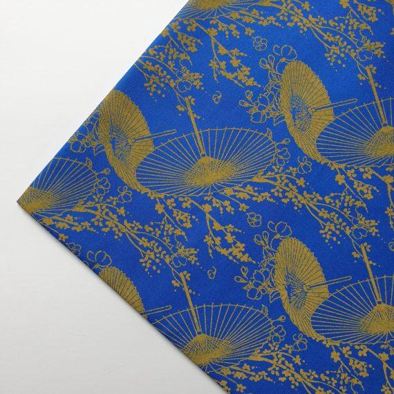 Royal Blue Parasol Print