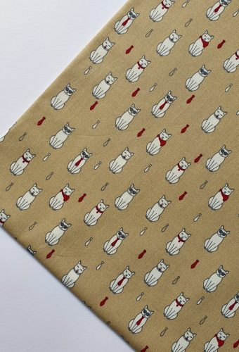 Cats and Ties Print Cotton