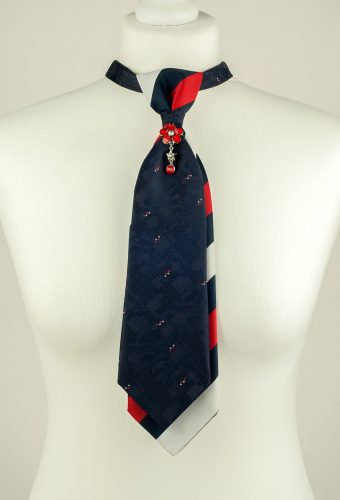 Navy Colour Double Necktie