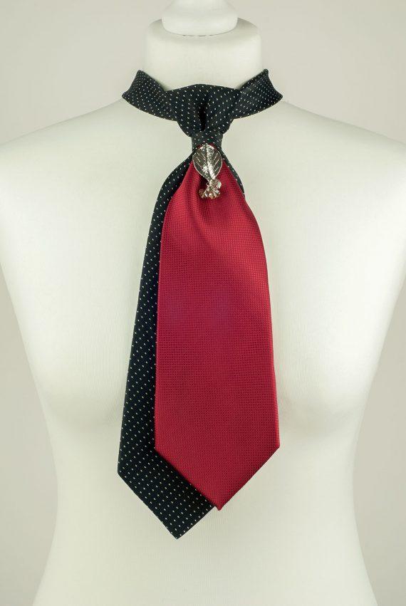 Black and Burgundy Colour Necktie