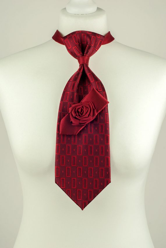 Burgundy Colour Rose Necktie
