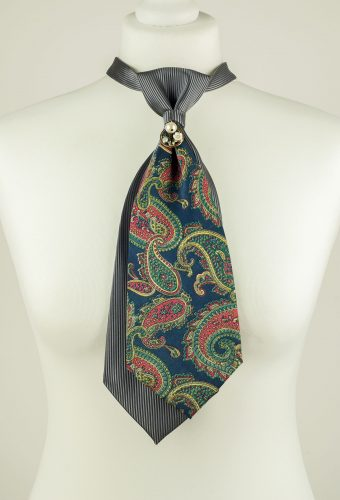 Multicoloured Paisley Print Necktie