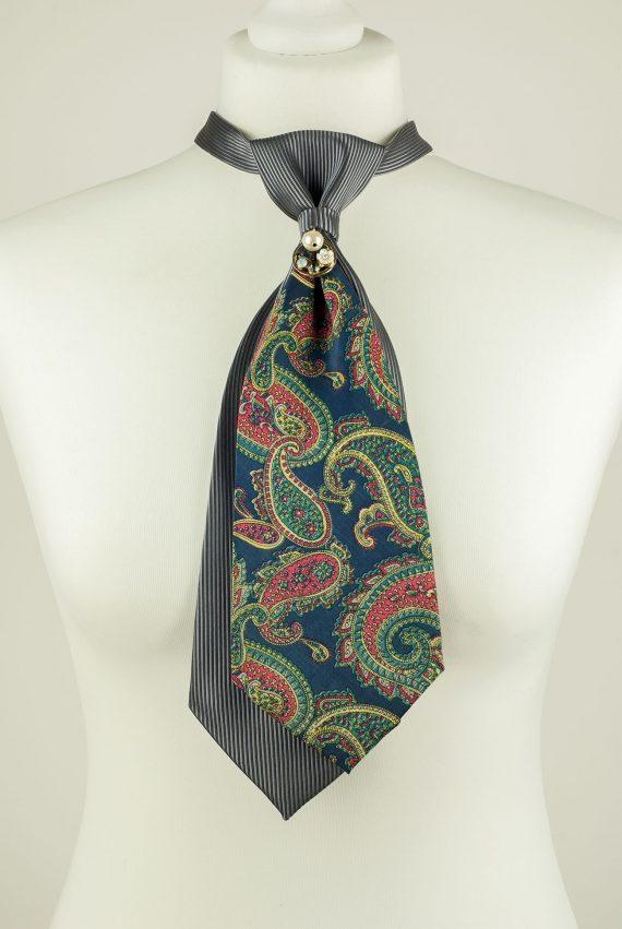 Multicoloured Paisley Print Necktie