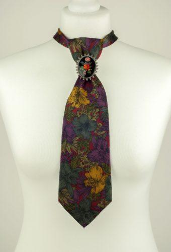 Pure Silk Floral Print Necktie