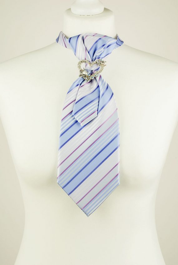 Striped Light Purple Colour Necktie