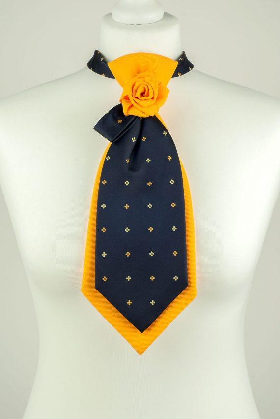Navy and Yellow Colour Necktie