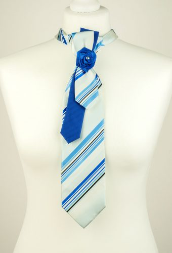 Striped Blue Colour Necktie