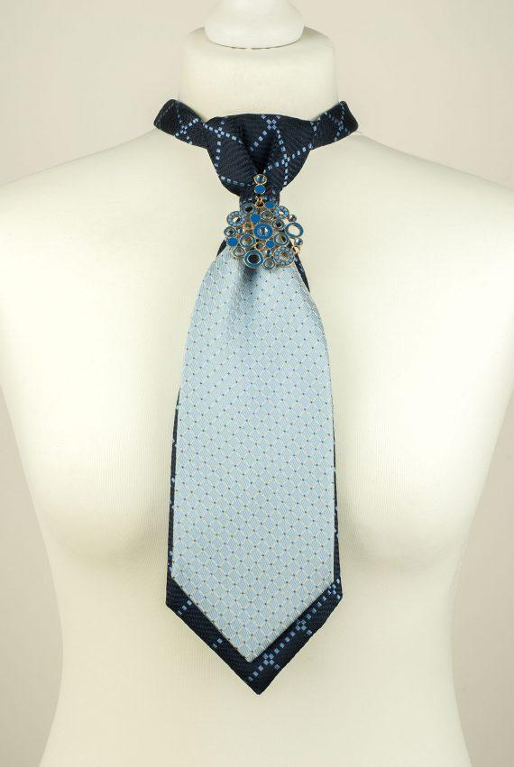 Check Pattern Silk Necktie