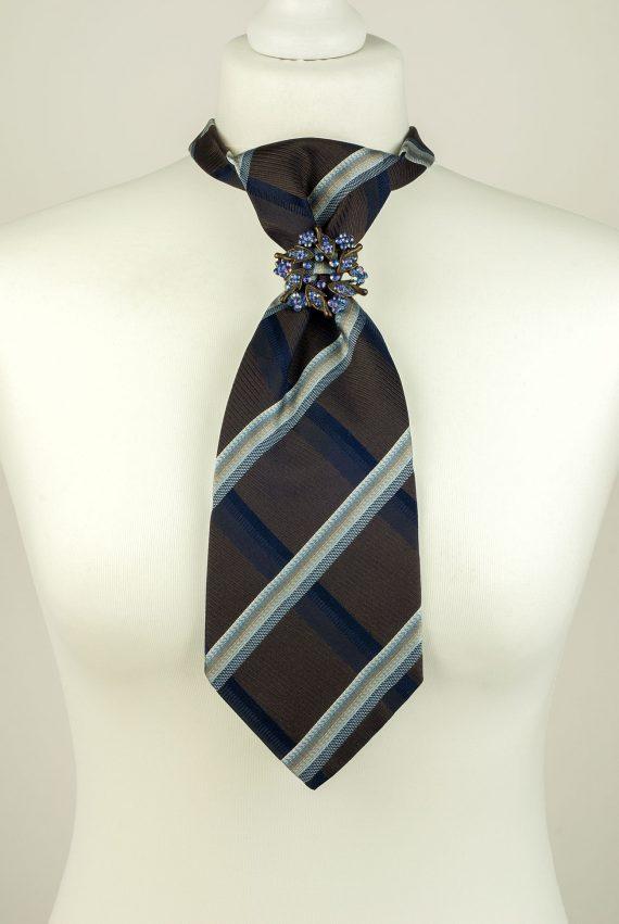Striped Pure Silk Necktie