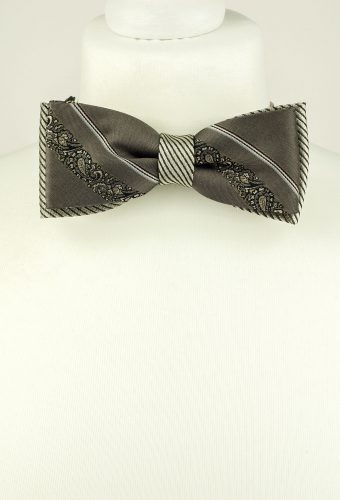 Grey Colour Luxurious Bow Tie
