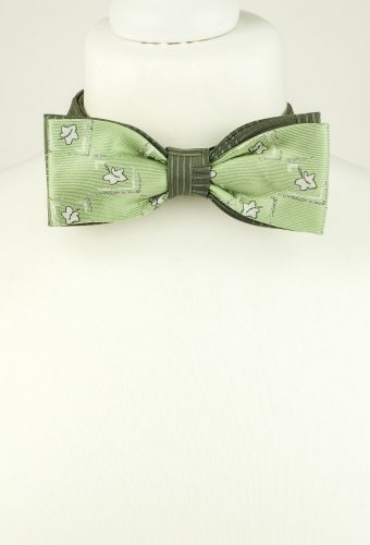 Green Colour Double Bow Tie