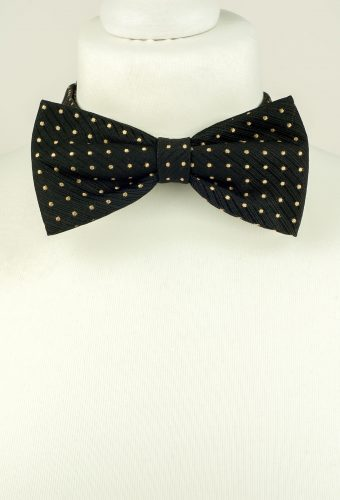Black Colour Polka Dot Bow Tie