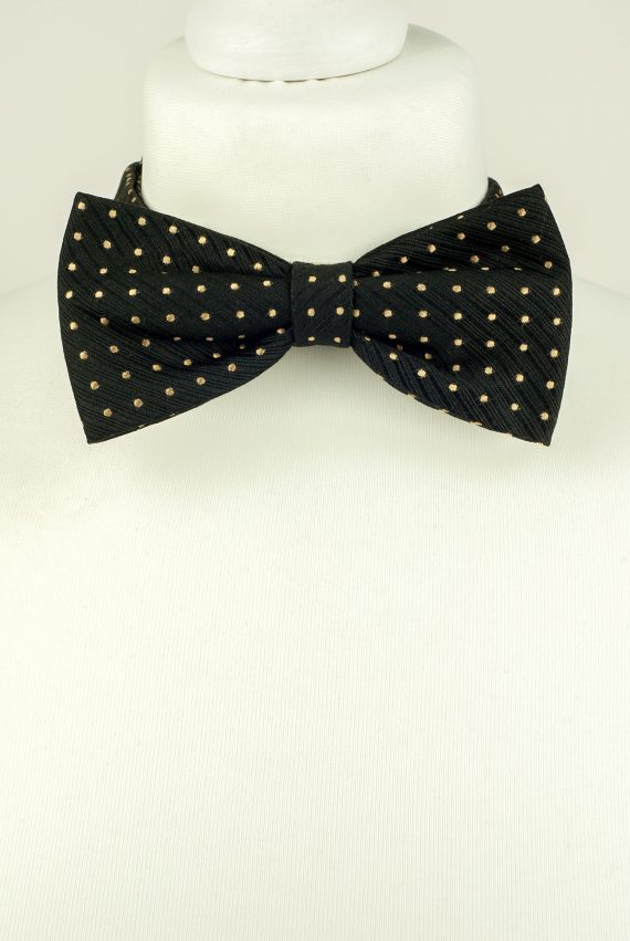 Black Colour Polka Dot Bow Tie