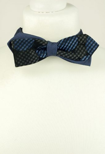 Blue Colour Diagonal Bow Tie