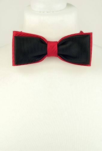 Classic Red and Black Bow Tie