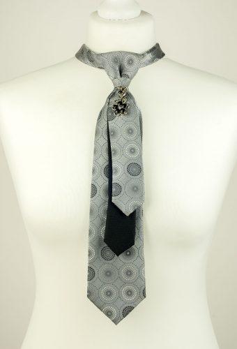 Circle Print Necktie