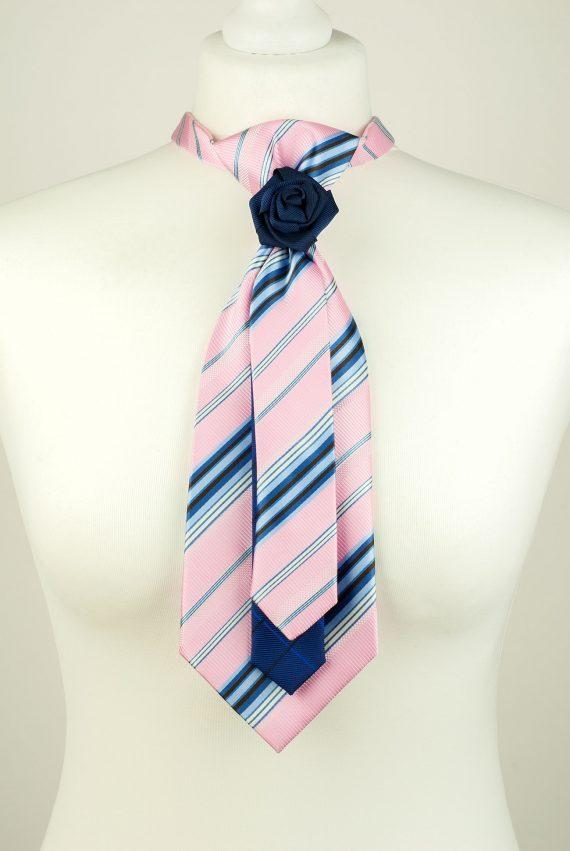 Striped Pink Colour Necktie