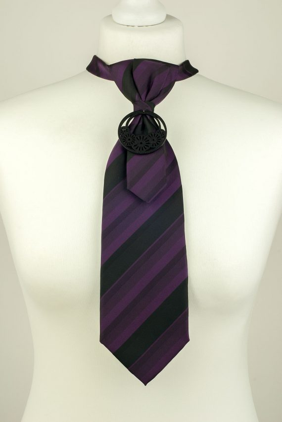 Dark Purple Colour Silk Necktie