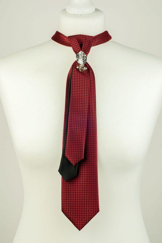 Burgundy Colour Skinny Necktie