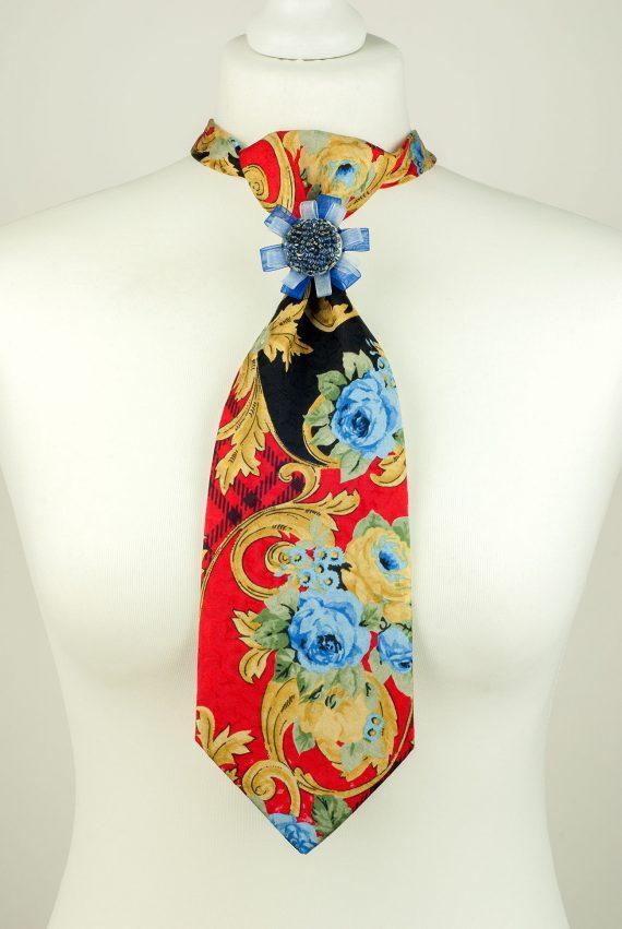 Pure Silk Roses Necktie