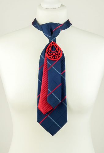 Navy Striped Necktie