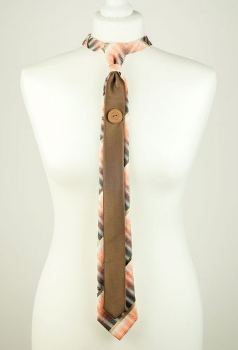Orange Cocoa Colour Necktie