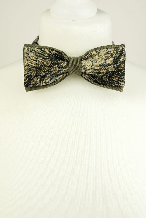 Moss Grey Colour Bow Tie