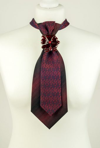 Burgundy Colour Double Necktie