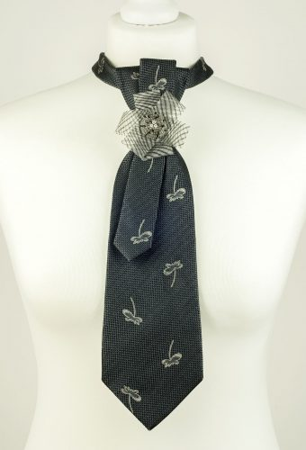 Grey Colour Silk Necktie