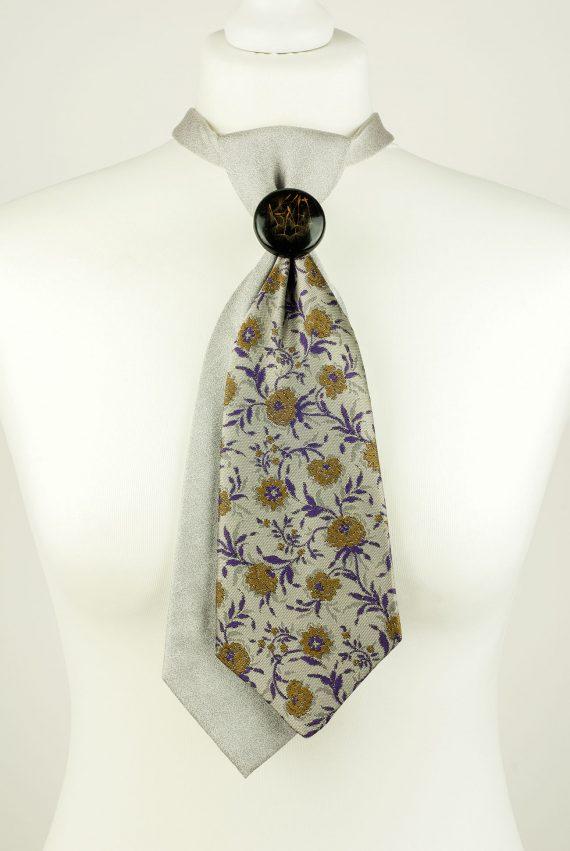Grey Colour Floral Necktie