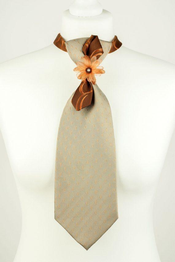 Organza Flower Necktie