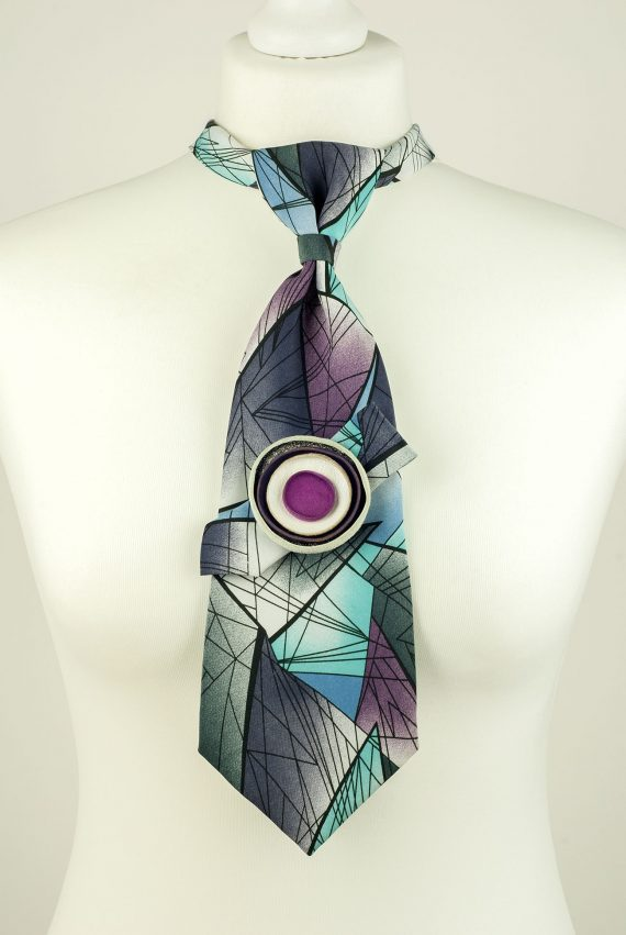 ometric Pattern Pure Silk Necktie