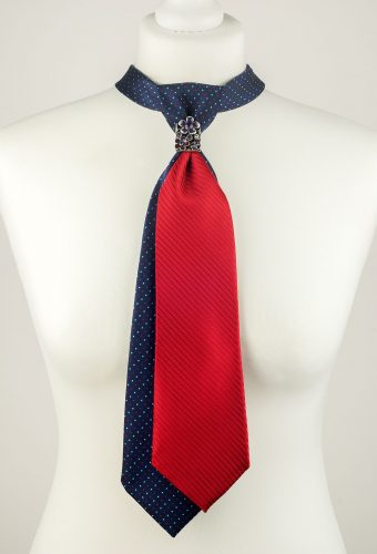 Polka Dot Double Necktie