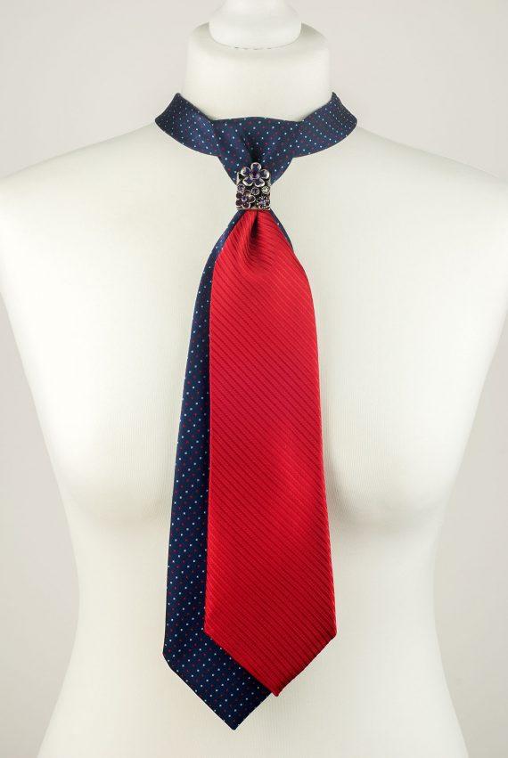 Polka Dot Double Necktie
