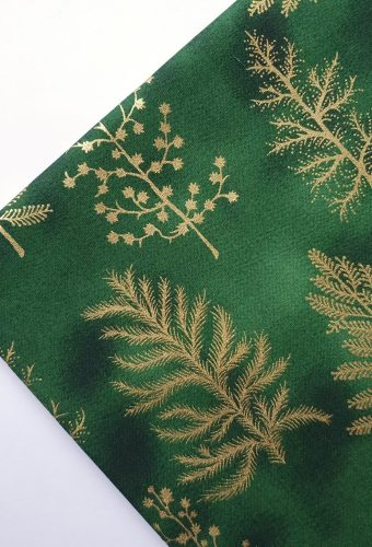 Green Christmas Tree Cotton Fabric