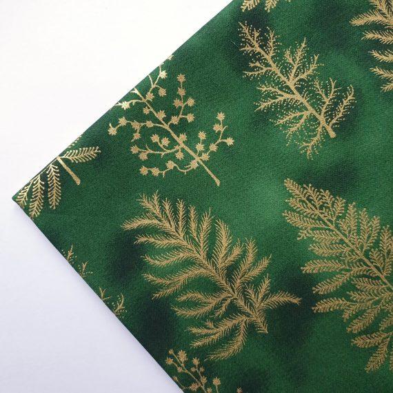 Green Christmas Tree Cotton Fabric