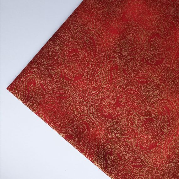 Red Paisley Cotton