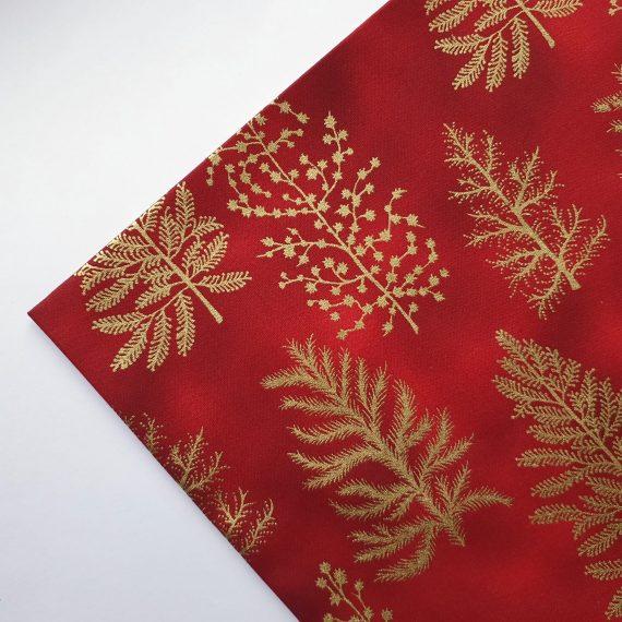 Red Christmas Tree Cotton