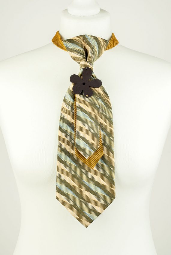 Wooden Flower Necktie