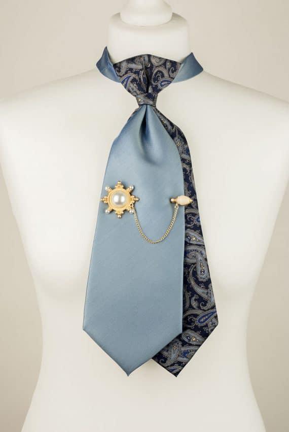 Blue, Silk, Unique Tie