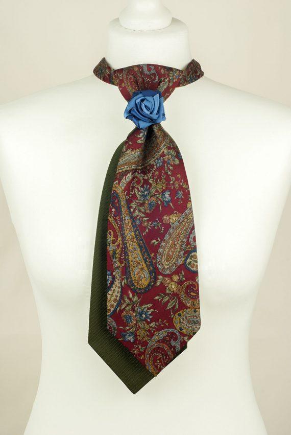 Floral Tie, Silk Tie, Vintage Necktie