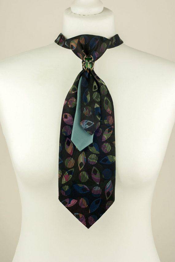 Black, Green, Handmade Tie