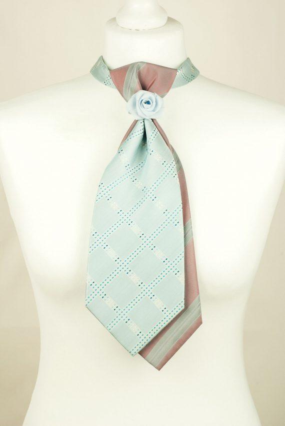 Baby Blue Necktie, Handmade Tie