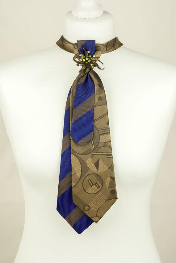 Grey, Olive, Purple, Handmade Tie