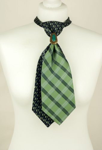 Green, Blue Handmade Tie