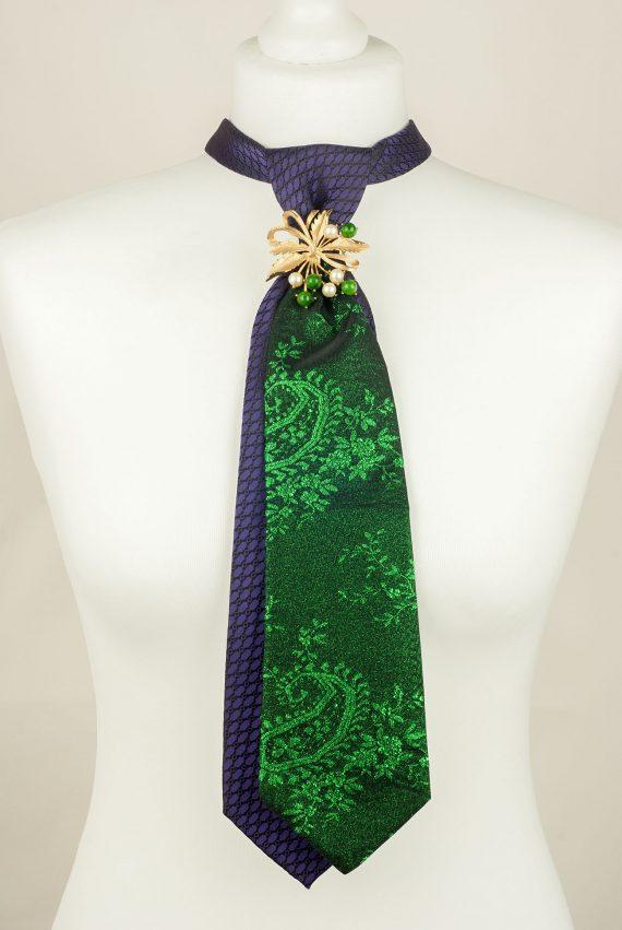 Sparkly Tie, Green Tie, Purple Tie, Unique Tie