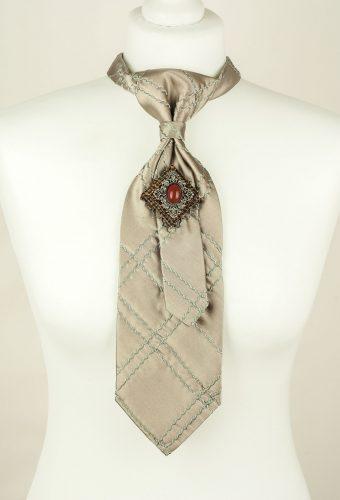 Silk Tie, Grey Tie, Unique Tie