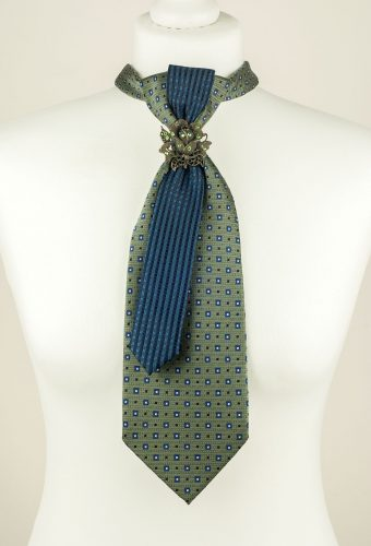 Grey, Green, Vintage Necktie
